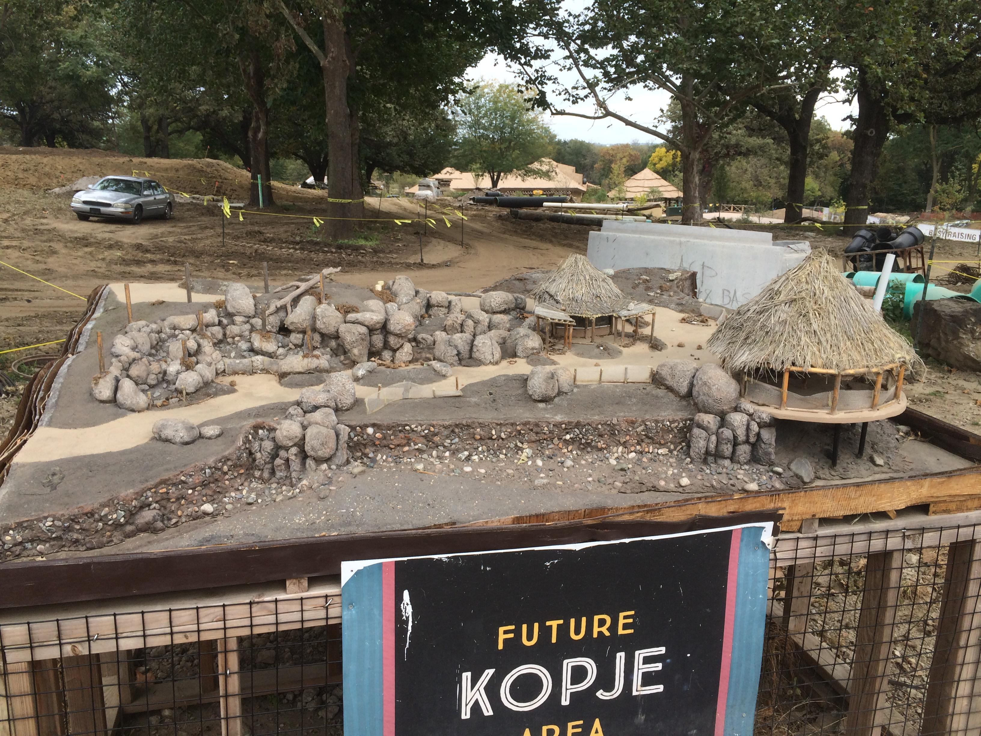 Future Kopje Area Model - African Grasslands, Henry Doorly Zoo Omaha Nebraska