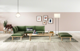 West Elm Work Boardwalk Lounge Setting
