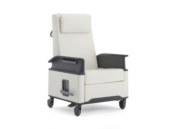 A white Empath patient chair on white background.