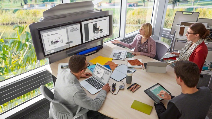 media:scape standing height by Steelcase
