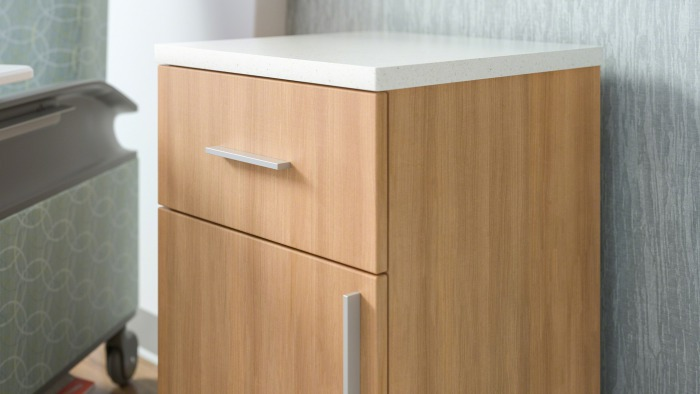 Senza Bedside Table with Solid Surface Top