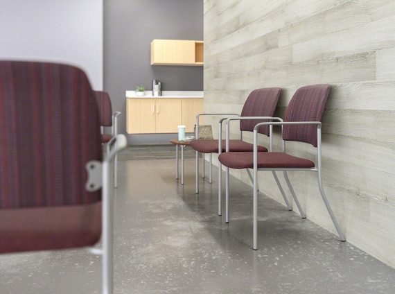 Sorrel Single-Seat and Bariatric with arms and wallsaver legs and Sorrel Square Freestanding Tables