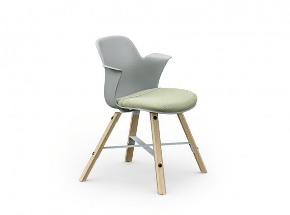 Wood Leg guest chair