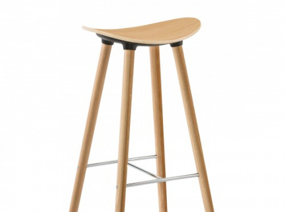 Enea wood cafe stool by Coalesse