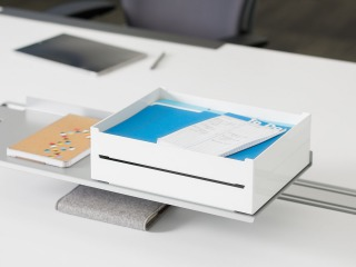 SOTO Pile Box + Shelf + Ergo Edge by Steelcase