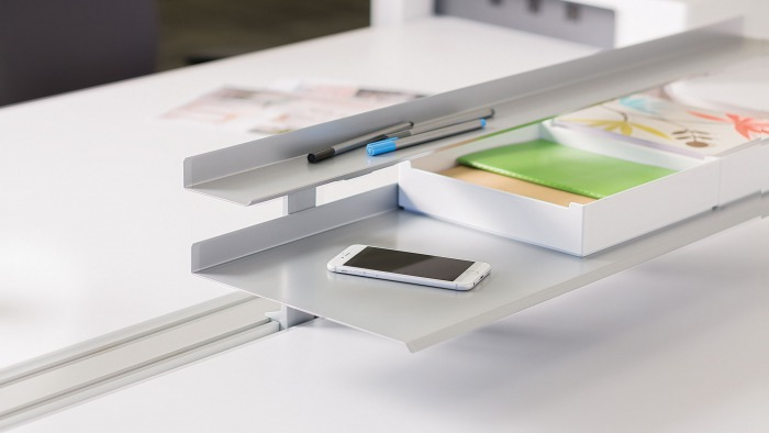 SOTO Shelves + Personal Box by Steelcase