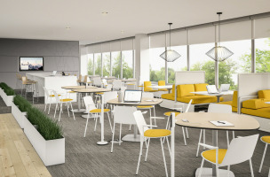 WorkCafe Specialty Zone in yellow