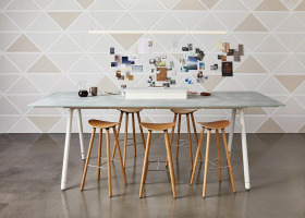 Enea Wood Cafe stool by Coalesse