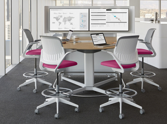 media:scape Dual Monitor + Cobi Chairs