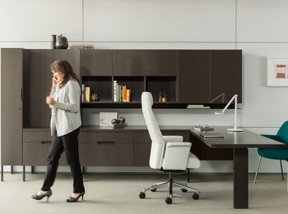 Contemporary Wood Office