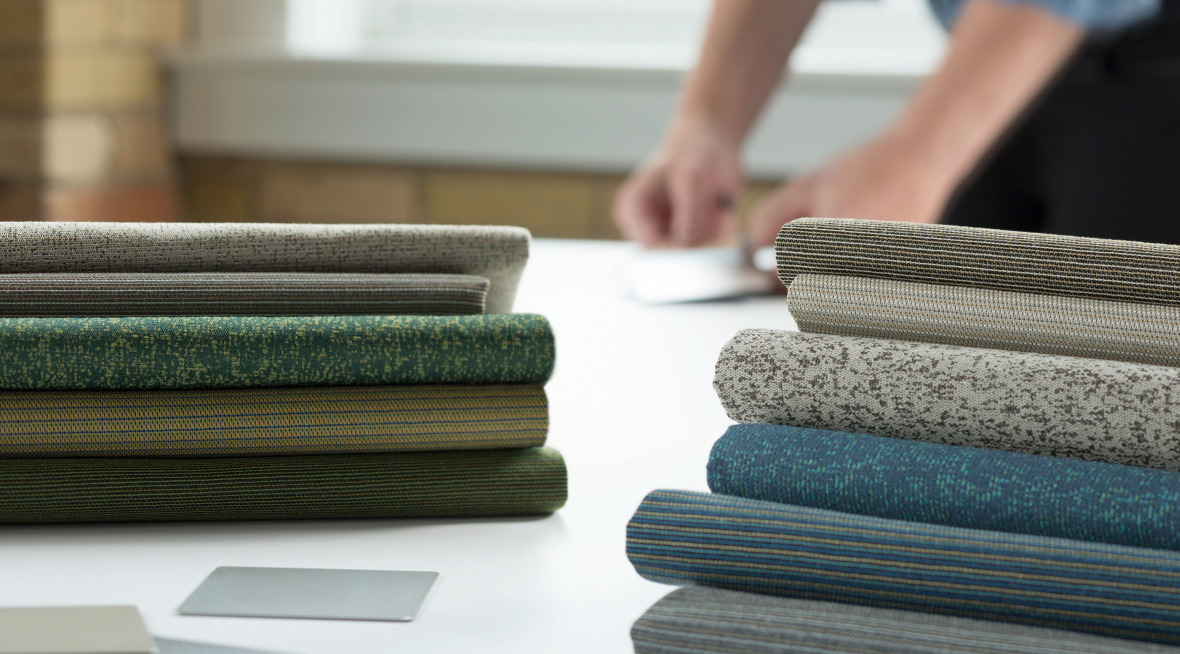 samples of Steelcase surface materials
