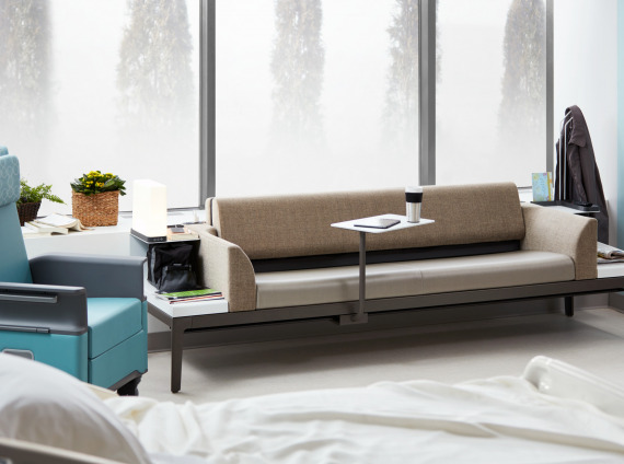 Surround sleeper sofa by Steelcase for healthcare environments