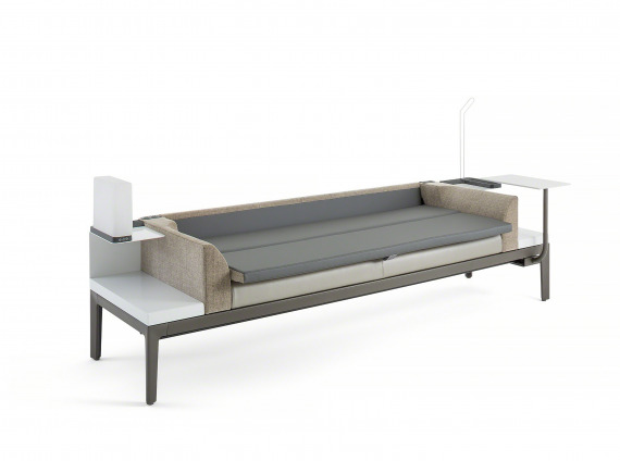 Surround sleeper sofa by Steelcase Health