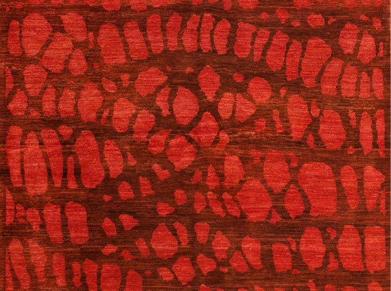 Red toned rug from ARZU