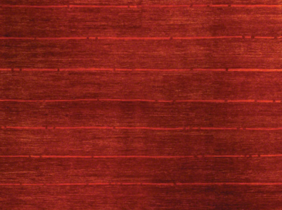 Red floor rug whit a mild stripe pattern from ARZU