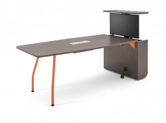 Long Verb Active Media Table by Steelcase