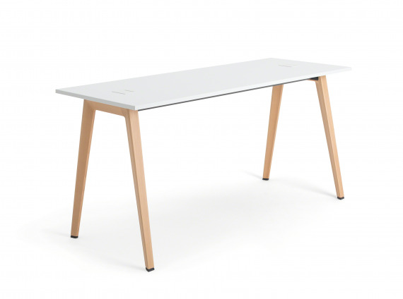 white standing height table