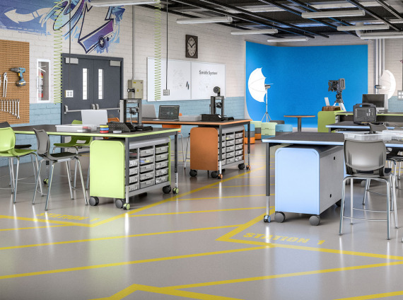 Smith System furniture for K-12 school learning