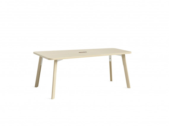 wood table with rounded corners