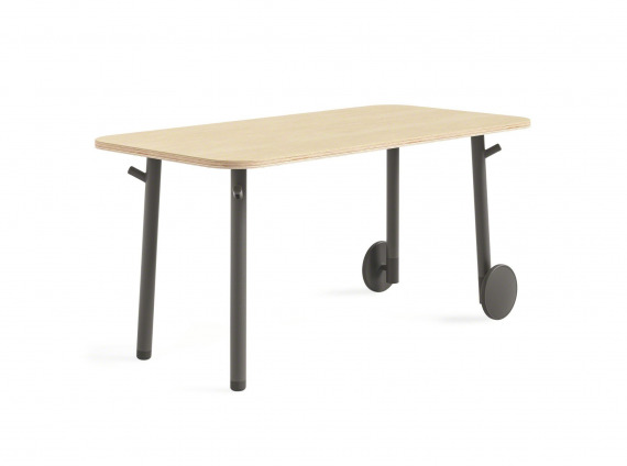 desk height slim table