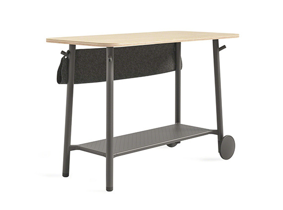 Standing Height Table with wheels