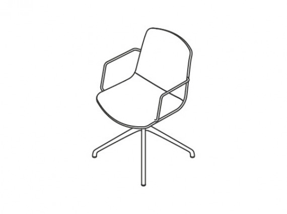 wire frame guest chairs