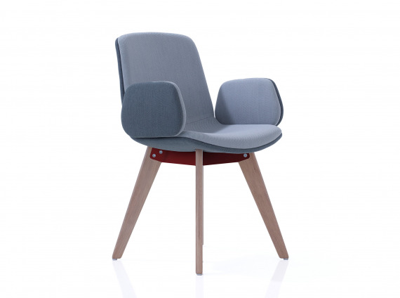 guest chair with wood legs