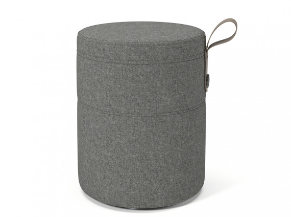 Pouf stool in gray