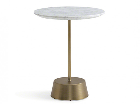 side table with gold base