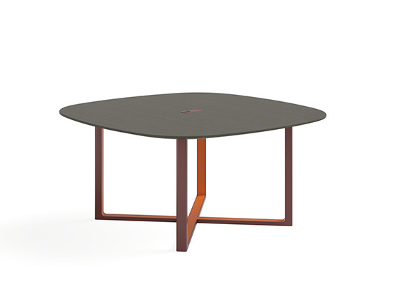 Verlay table with wood legs