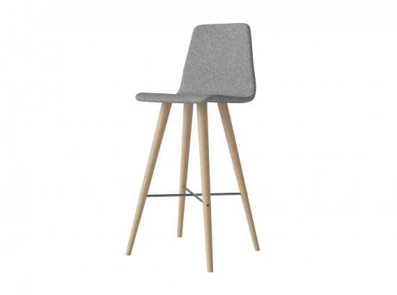Beaver Stool in gray