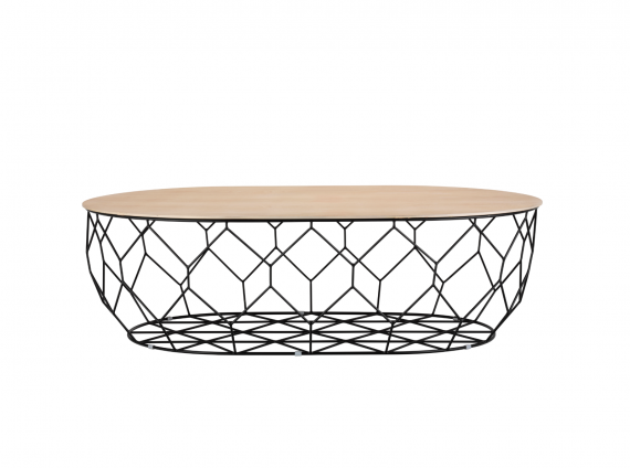 Comb Coffee Table wire base