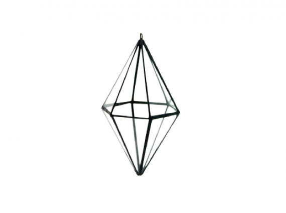 Diamond Hanging Terrarium for window