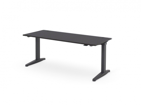 Ology Height-Adjustable Bench in black