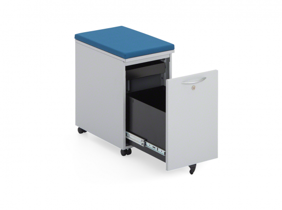 TS Series Slim Mobile Pedestals with seat