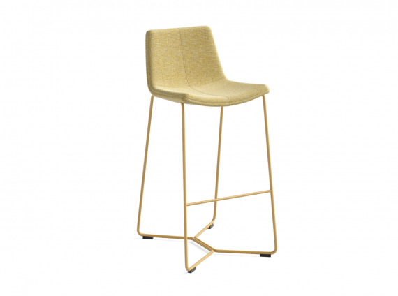 West Elm Work Slope Stool in yellow