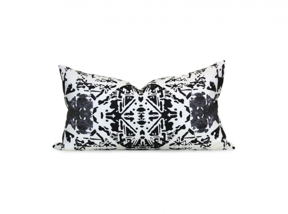 Bruges Pillow Cotton Canvas black and white
