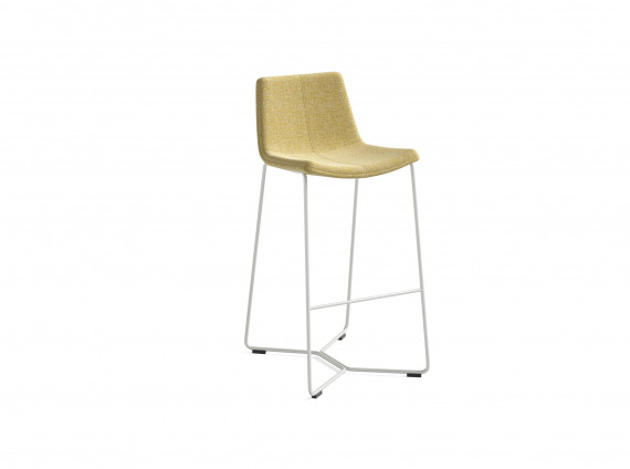 tall stool in yellow