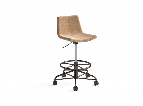 height adjustable stool on wheels