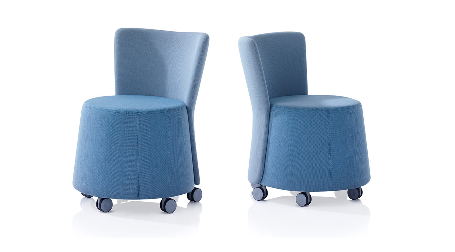 Two blue Ramsey chairs