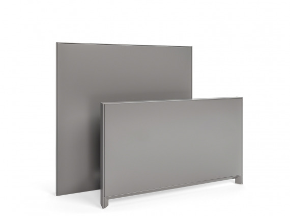 Answer panel by Steelcase in gray