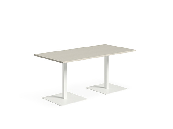 White background image with white rectangular table