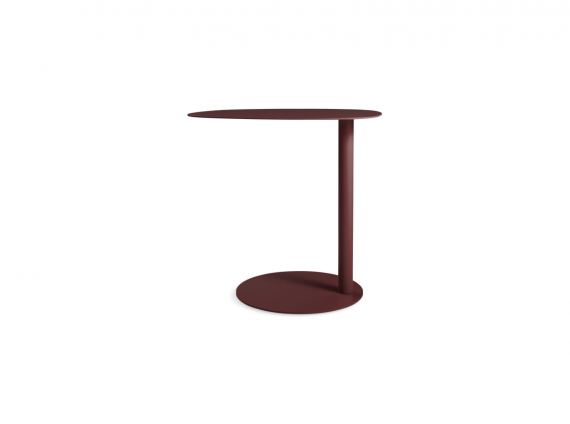 Swole Tall Personal Table by Blu Dot in maroon