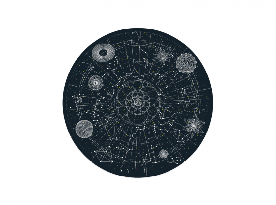 Celestial Round planet Rug by Moooi Carpets