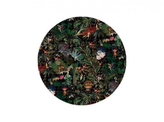 Extinct Animals Menagerie Round lush Rug by Moooi Carpets