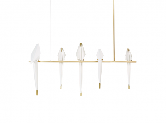 Perch Light Branch Pendant with birds by Moooi