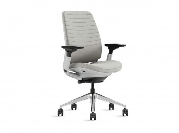 A gray Steelcase Series 2 task chair on white background