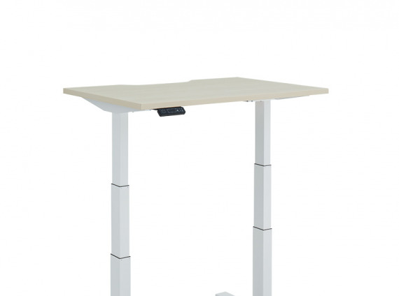 Height Adjustable Desk, Extended, T-Leg on white background