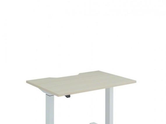 Height Adjustable Desk, Basic, T-Leg on white background