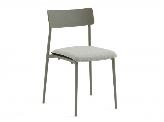 Gray Turnstone Simple Chair with gray seat cushion.